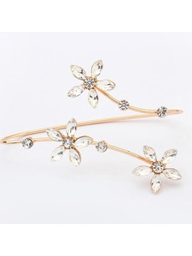 Sweet E Plating Flowers Bracelet For Women