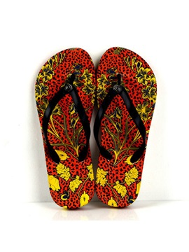 Floral Printed Thong Beach Sandals