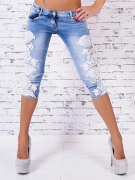 Slimming Lace Hollow Out Pencil Jean