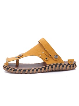 Pu Thread Thong Flat For Men