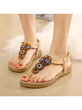 Boho Elastic Band Flat Sandals