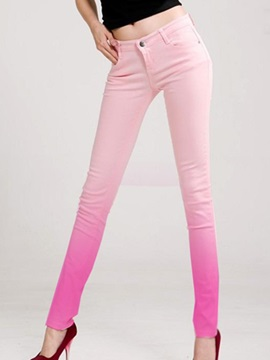 Gradient Designed Skinny Pencil Jean