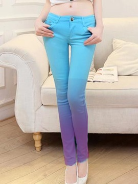 Candy Color Gradient Designed Jean