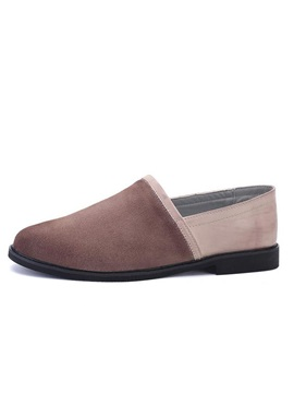 Retro Round Toe Slip On Casual Shoes