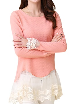 Stylish Lace Long Sleeve Blouse