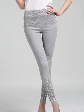 Slimming Lace Pacthwork Pencil Leggings