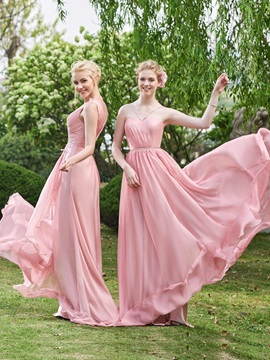 High Quality Sweetheart A Line Long Bridesmaid Dress
