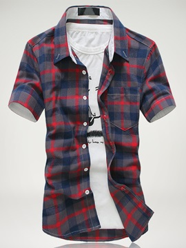 Multi Color Short Sleeve Mens Casual Shirt