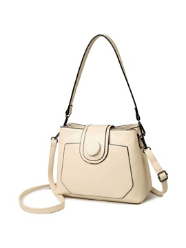 Simple Solid Color Thread Women Crossbody Bag