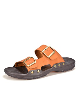Pu Buckles Open Toe Mens Sandals