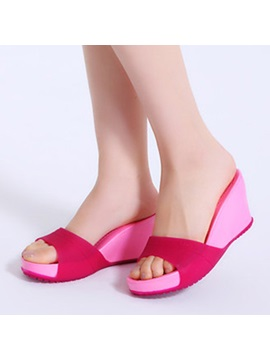 Antiskid Peep Toe Wedge Sandals