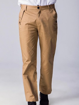 Plain Mens Mid Waist Casual Pants