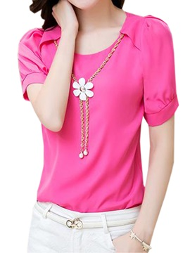 Stylish Collar And Sleeves Slim T Shirt