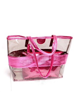 Candy Color Patchwork Transparent Women Tote