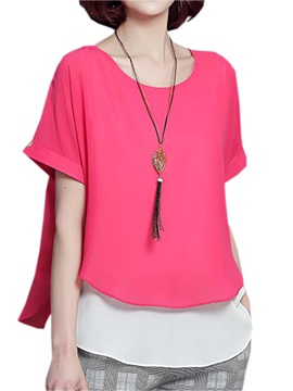 Splendid Double Layer Chiffon Blouse