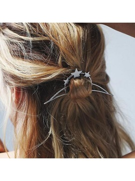 Alloy E Plating Stars Women Hairpin