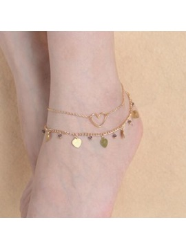 Beautiful Multi Layer Heart Shape Anklet