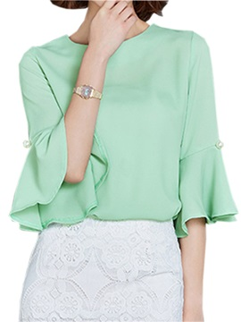 Loose Cuff Slim Blouse