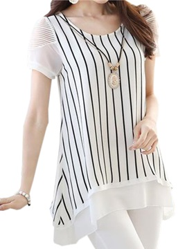 Special Sleeves Stripe Blouse
