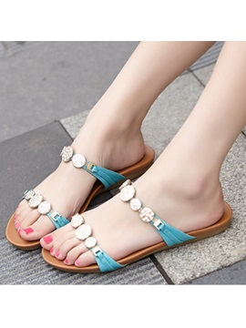 Cozy Pu Open Toe Beach Sandals
