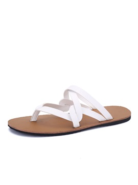 Simple Style Pu Thong Flip Flops