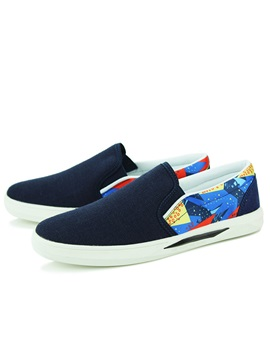Printed Slip On Canvas Shoes