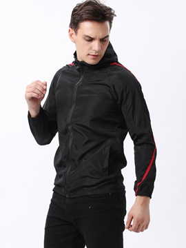 Hooded Zipper Mens Sun Proof Jacket