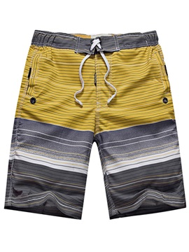 Mens Striped Boardshort Swim Trunk