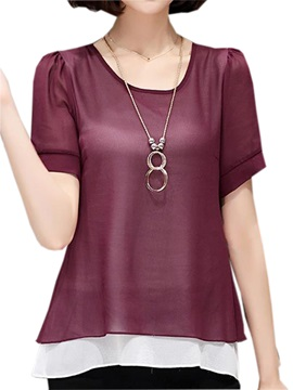 Stylish Double Layer Back Short Blouse