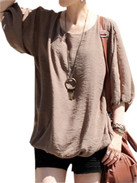 Loose Half Sleeves Blouse