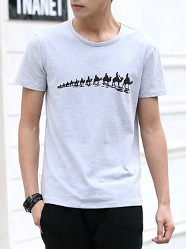Animal Printed Mens Loose Fit Tee