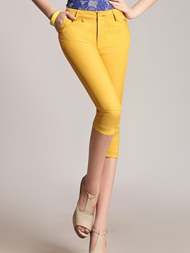 Curvy Fit Candy Color Pencil Pant