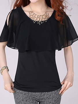 Special Hollow Sleeves Blouse