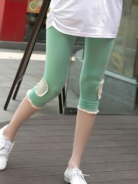Slimming Lace Trim Leggings