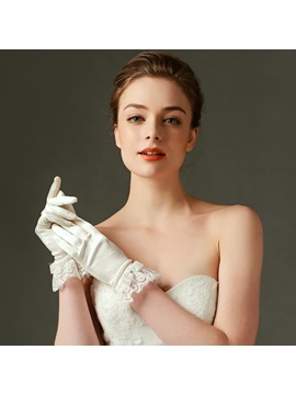 Simple Satin Wedding Gloves