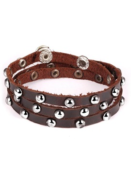 European Rivet Decoration Mens Bracelet