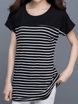 Chic Stripe Slim T Shirt