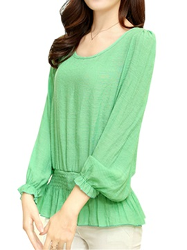 Special Hem Loose Sleeves Blouse