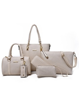 Stylish Woven Style Womens Bag Set Six Bags