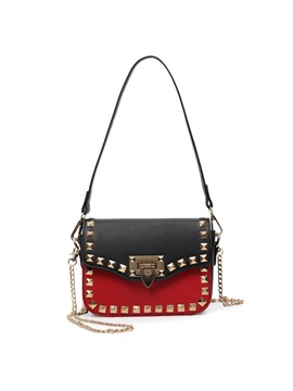 Stylish Rivets Decorated Womens Shoulder Bag