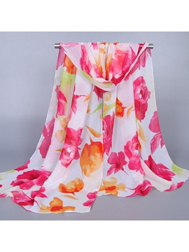 Floral Printed Large Size Women Scarf