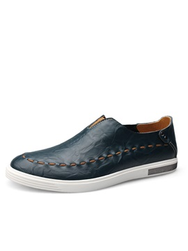 British Pu Thread Slip On Casual Shoes For Men