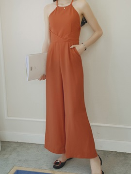 Vintage Wide Leg Hollow Out Jumpsuit
