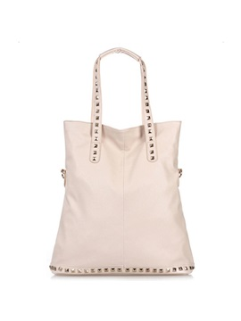 Casual Rivets Decorated Womens Tote Bag