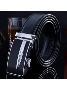Casual Automatic Buckle Pure Color Mens Belt