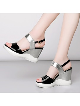 Pu Color Block Wedge