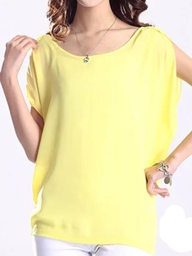 Special Sleeves Loose Chiffon Blouse