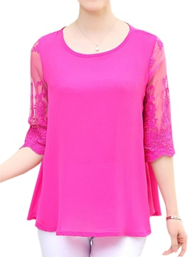 Stylish Back Lace Half Sleeves Blouse
