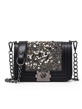 Personalized Sequins Decorated Womens Chain Bag