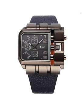 Fashion Square Pin Buckle Men Watch